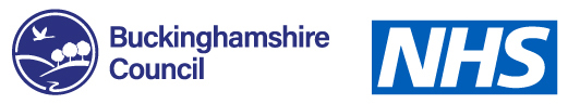 Buckinghamshire Council and NHS logo